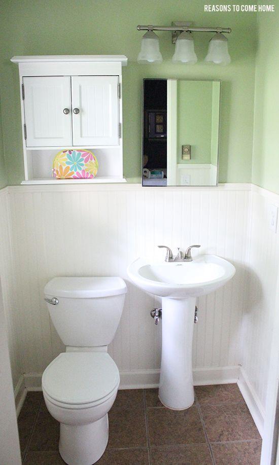 Half bathroom ideas for the home pinterest for Half bathroom ideas pinterest