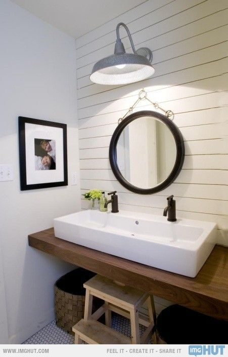 double faucet trough sink small bathroom remodel pinterest