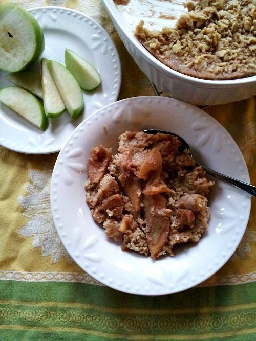 apple pie baked oatmeal | Breakfast | Pinterest