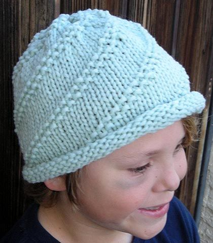 Roll Brim Spiral Hat Knitting Pattern yarn!! Pinterest
