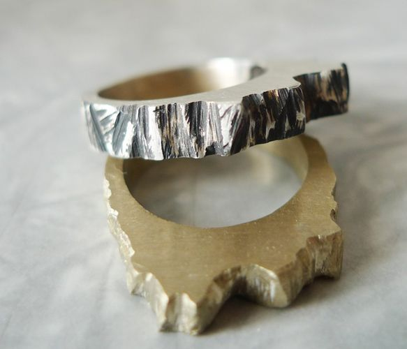 {Bronze Wooden Ring} fabulous nature-influenced texture!