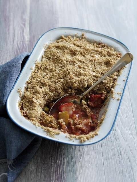 Rhubarb And Strawberry Crumble... | Cook! | Pinterest