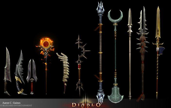 Diablo 3 weapons by goons aaron gaines cghub via pincg com