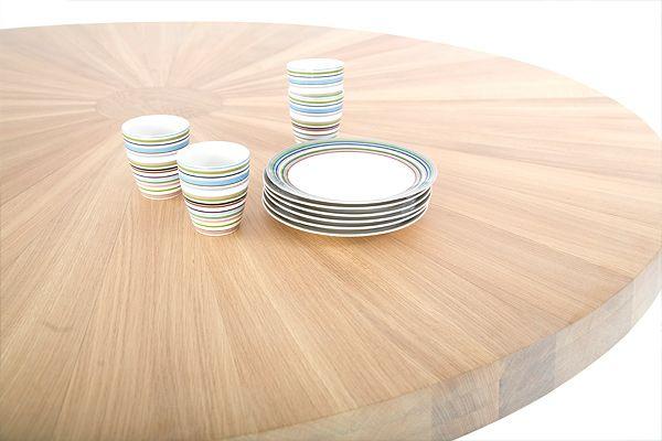 ronde eettafel hout  Interieur  Pinterest