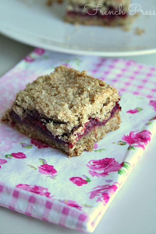 Raspberry Crumb Bars | Recipe
