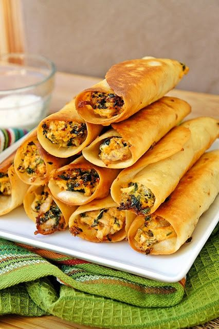 Chicken and Cream Cheese Taquitos | Don't Be a Chicken | Pinterest