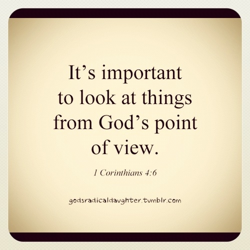God's point of view on dating