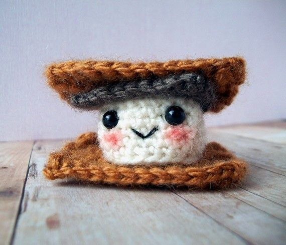 Crochet Mini Amigurumi Smore Plush