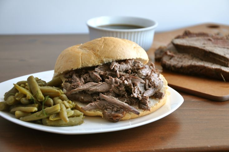Slow Cooker French Dip | Crock Pottin' and Slow Cookin' | Pinterest