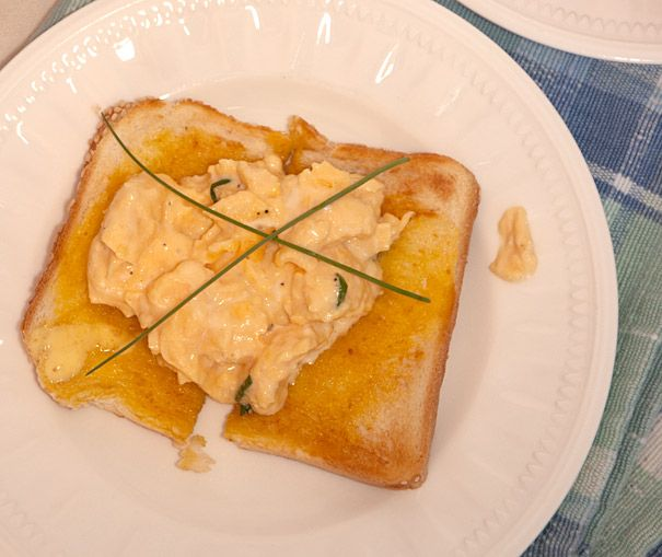 Scrambled Eggs on Toast | Recipe