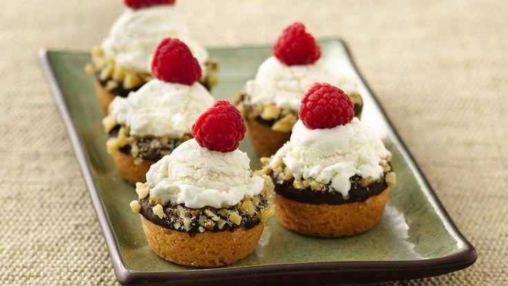 Mini Ice Cream Cookie Cups -- Pillsbury Bake-Off Contest winning ...