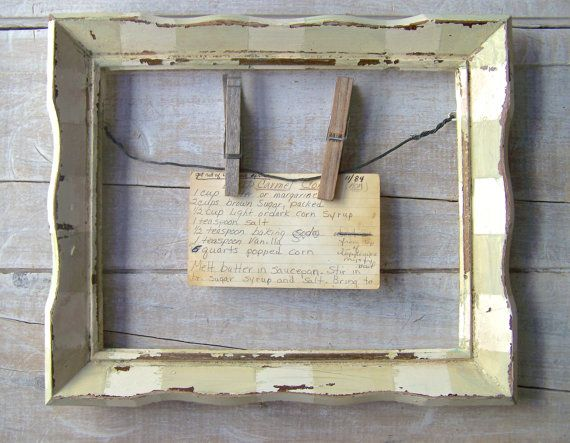 Farmhouse Kitchen Decor // Rustic Cottage Frame // Primitive Recipe H…
