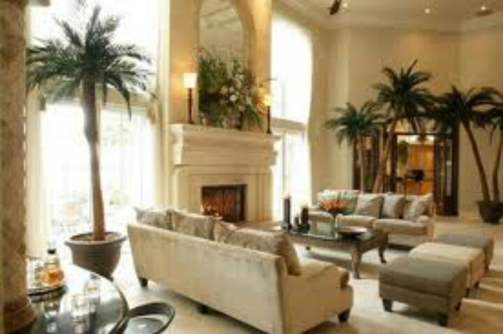Palm trees in a living room stylish interiors pinterest for Palm tree living room ideas