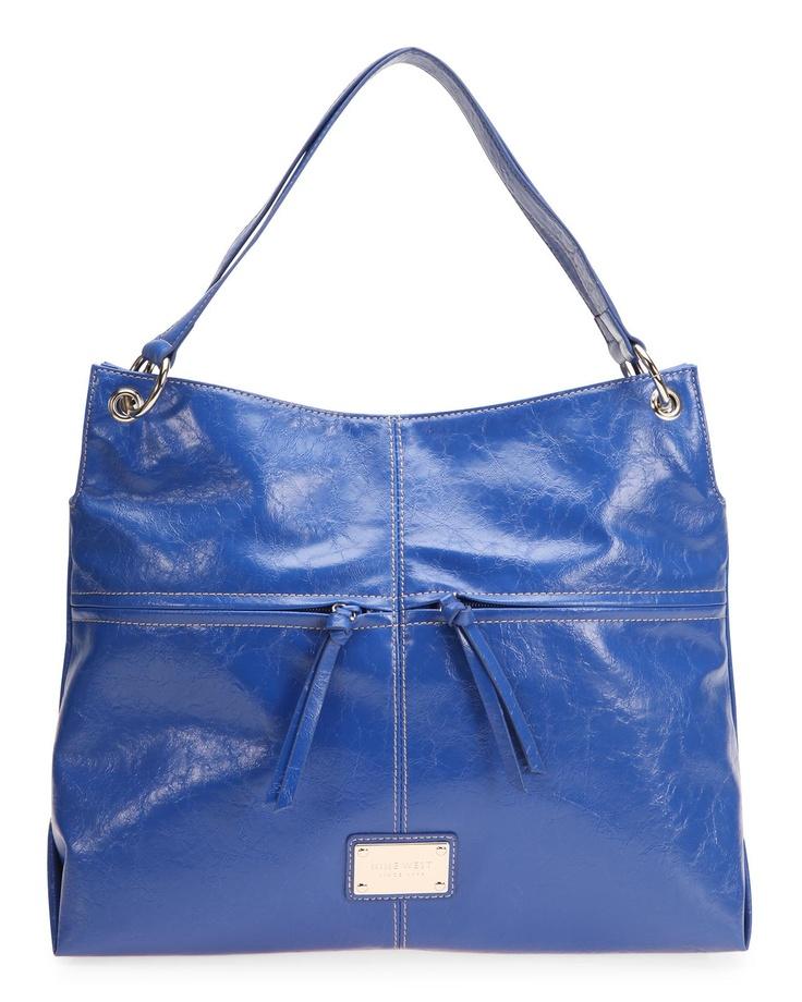 NINE WEST 14 Blue Zip Me Up Bag