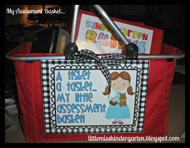 Little Miss Kindergarten - Lessons from the Little Red Schoolhouse!: A Tisket A Tasket! Grab it and go..