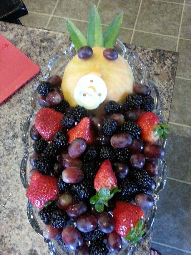 baby shower fruit tray baby shower pinterest