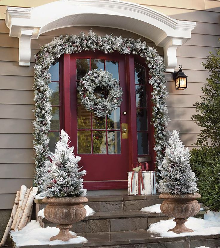 front door decor christmas pinterest