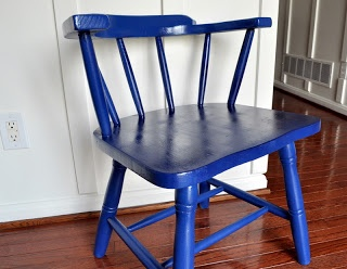 Navy captain s chair cleverlyinspired painted and upcycled furnitu