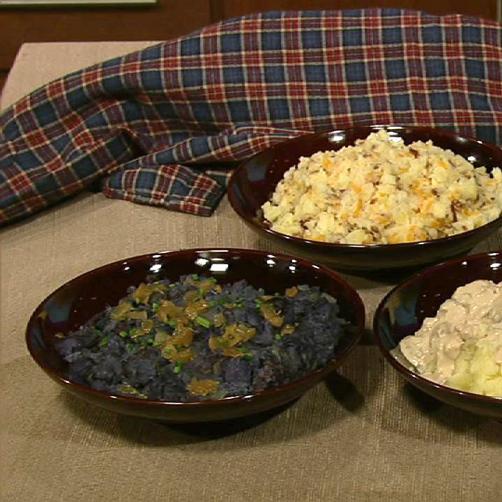 ... Oz's Purple Mashed Potatoes With Rosemary And Caramelized Onions