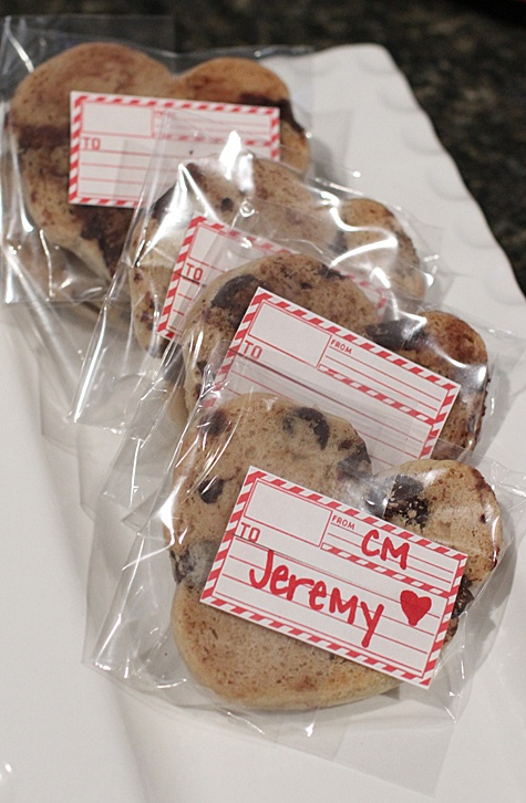 chocolate chip cookie valentine | Cookies | Pinterest