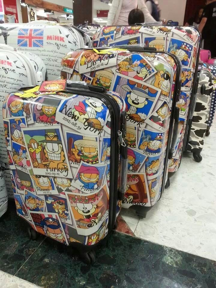 Garfield luggage i want it garfield stuff pinterest for Logiciel gad garage