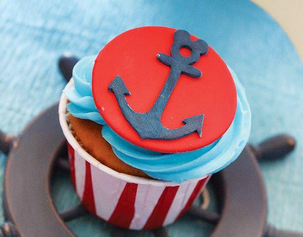 Cute Nautical Mickey Mouse Birthday Party #Nautical #Mickey #Anchor #