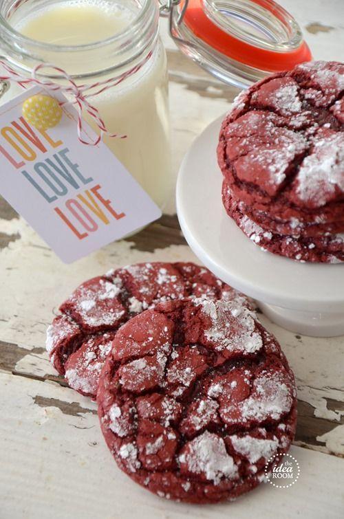 Red Velvet Crinkle Cookies | Be Mine - Valentine | Pinterest