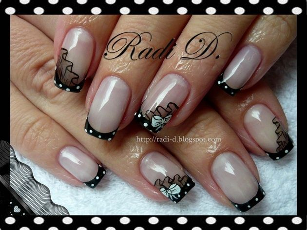 Polka Dot French | Nails French Polish with a Twist | Pinterest