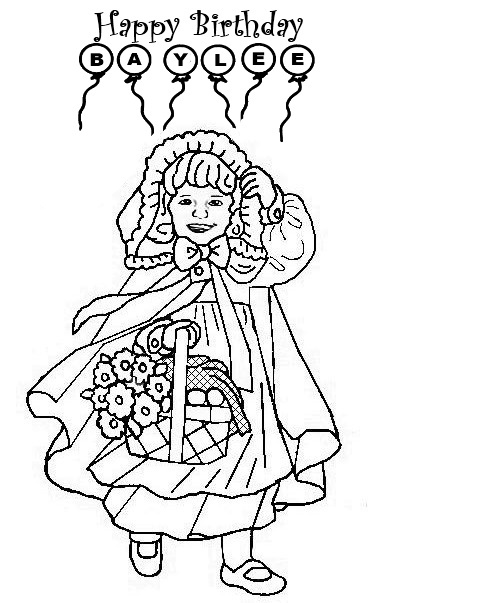 baylee jae coloring pages - photo#11