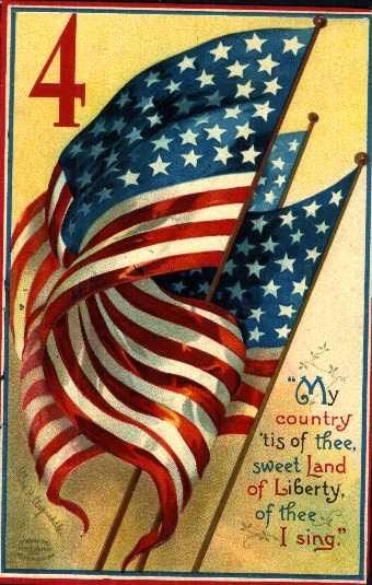 4th of july retro images