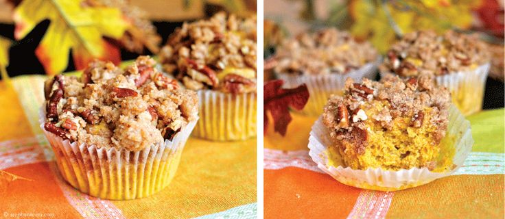 Pumpkin Muffins with pecan streusel | Muffins, Scones & Coffee Cakes ...