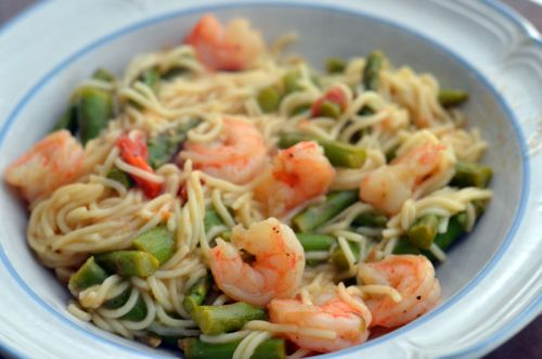 Angel Hair with Shrimp and Asparagus | Delicious Eats! | Pinterest