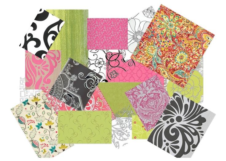 #Fabrics #Pink #Green #Black