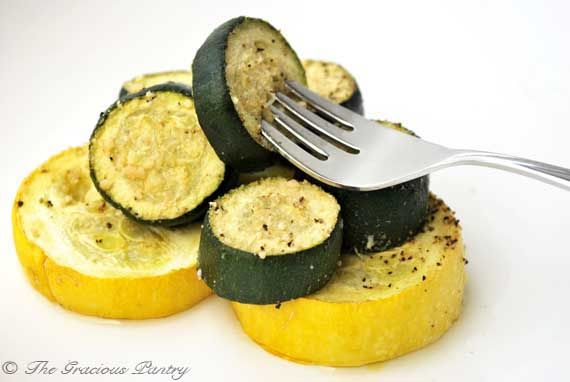 Clean Eating Roasted Summer Squash. Used real garlic instead of powder ...