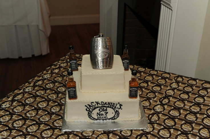 Jack Daniels grooms cake! Jack Daniels frosting and JD infused cake ...