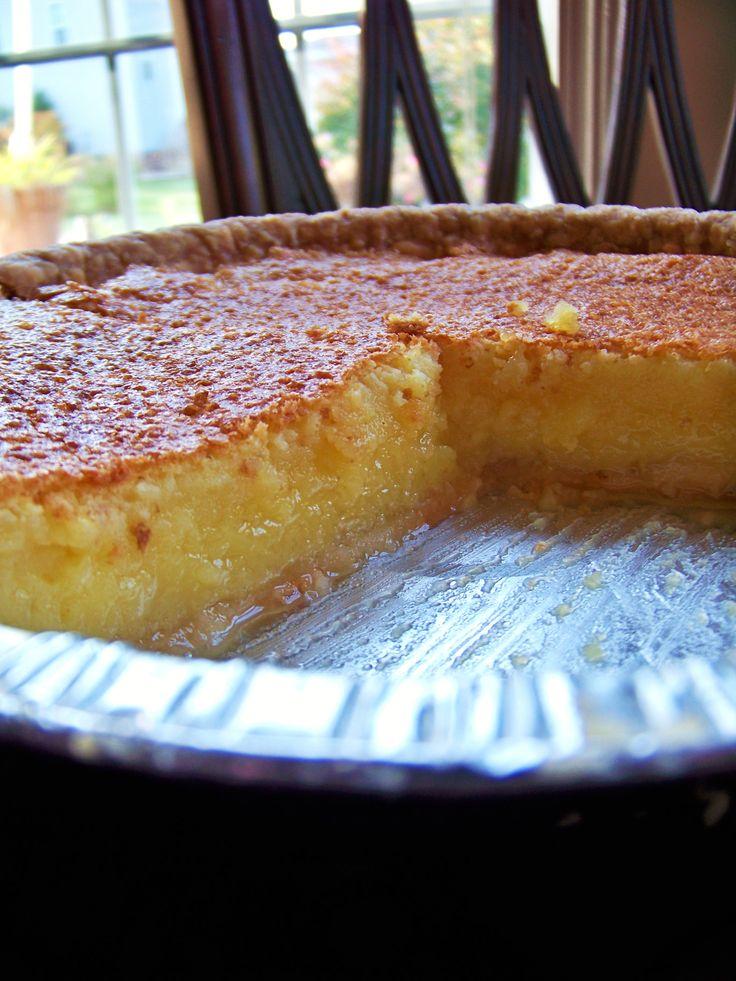 Lemon Chess Pie   recipes   Pinterest