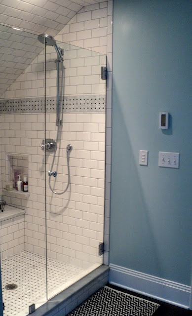 White Tile With Gray Grout Bathroom Update Pinterest