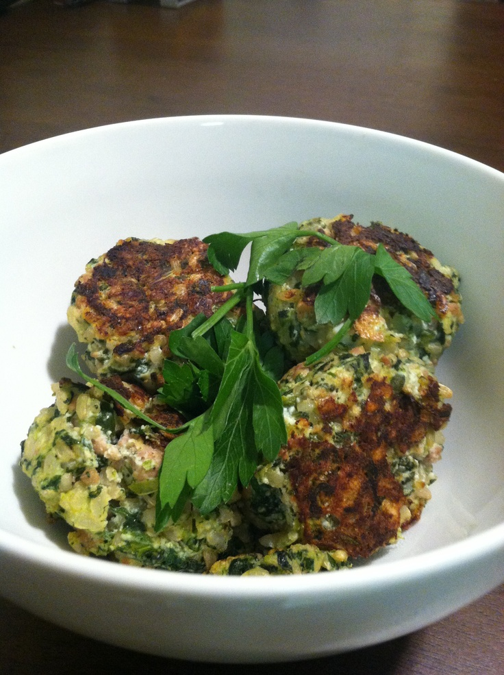 Baked Spinach Ricotta Rice Balls | Food & Drink | Pinterest