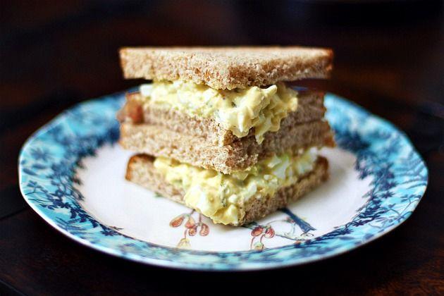 Easy Egg Salad Sandwich! | Kiddie food | Pinterest