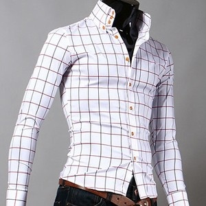 Vivenne westwood checked shirt clothes accesories for Black and white check mens shirt