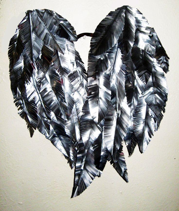 Metal Wall Art Angel Wings : Metal angel wings wall art