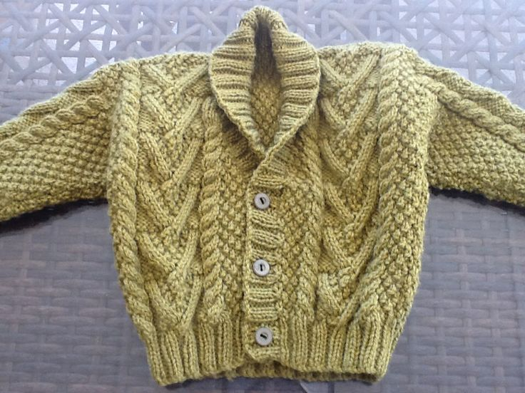 Baby aran cardigan Knitting patterns Pinterest