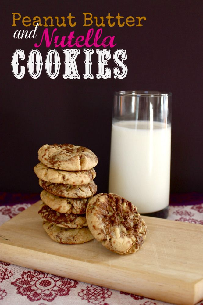 Peanut Butter Nutella Cookies | So many cookies..... | Pinterest