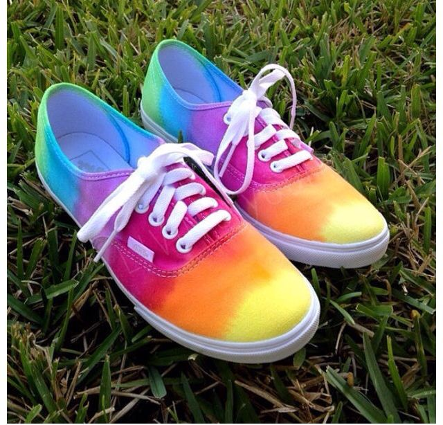 diy tie dye canvas shoes diy and creative ideas