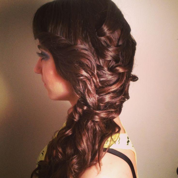 Prom Hair Loose Braid Curls Hairstyles