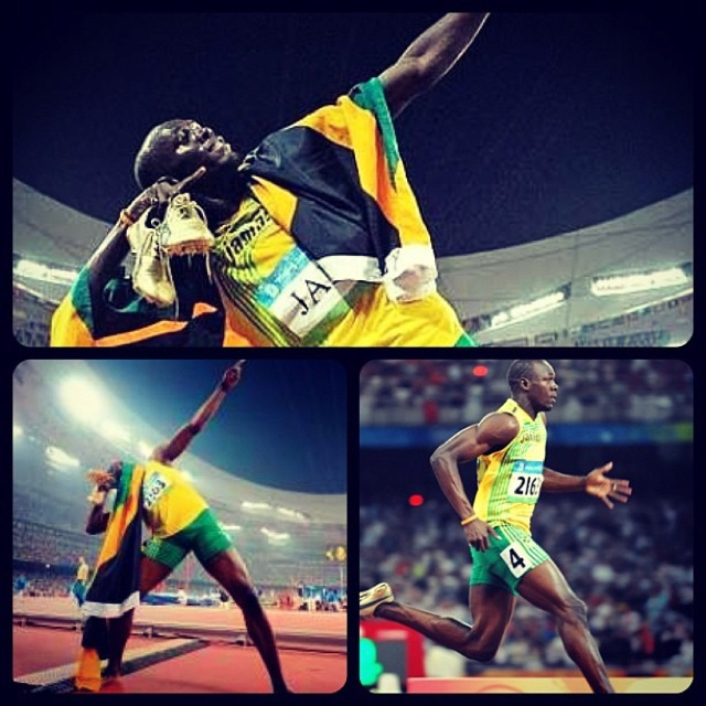 Usain Bolt wins the Olympic gold in the men's 100M sprint and is the fastest man in the world right now. Congrats to Jamaica! #London2012