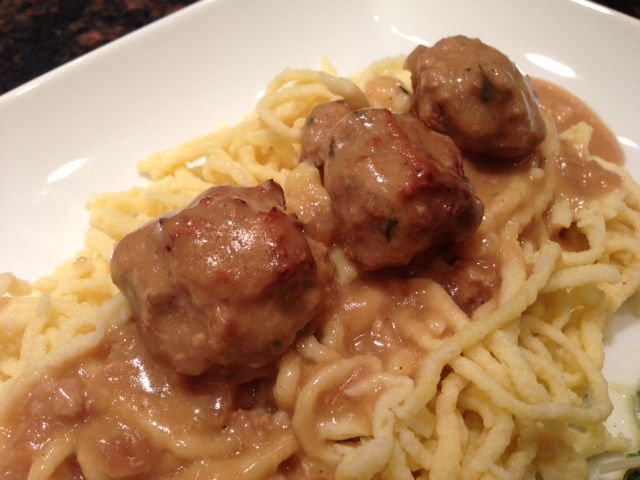 Veal Meatballs In Red Wine Sauce Recipe — Dishmaps