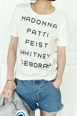 Madonna Patti Whitney Feist T-Shirt (3 COLORS AVAILABLE)