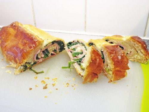 Spinach, ham cheese roulé | Sandwiches | Pinterest