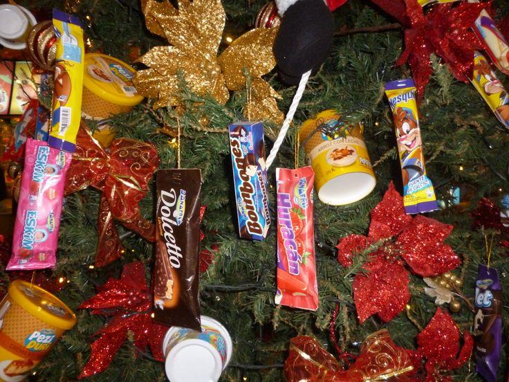 Arbol de navidad adornado con dulces para el hogar - Arbol de navidad adornado ...